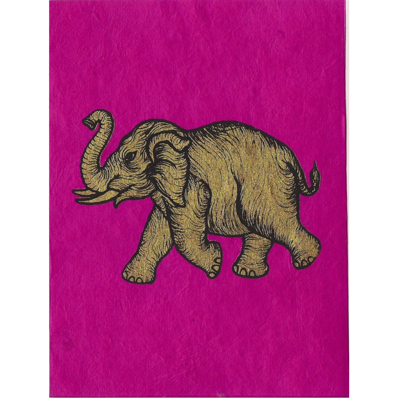 Elefant Briefkarte